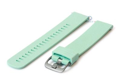 Horlogeband 20mm siliconen mint groen