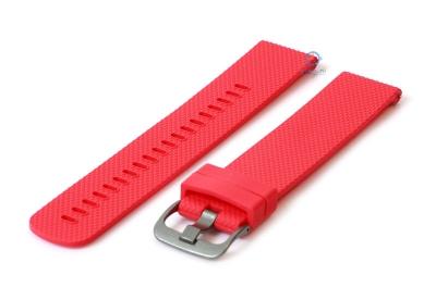 Horlogeband 20mm siliconen rood