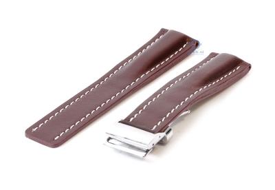 Breitling horlogeband 24mm leer bruin incl. vouwsluiting