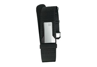 Klokers horlogeband textiel zwart