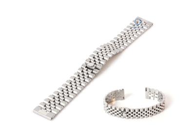 Horlogeband 20mm staal zilver - deels gepolijst