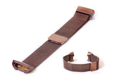 Fitbit Charge 3 horlogeband milanees brons