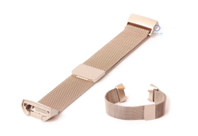 Fitbit Charge 3 horlogeband milanees champagne