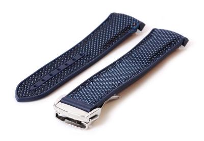 Omega seamaster horlogeband 22mm donkerblauw