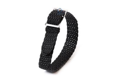 Perlon horlogeband 12mm zwart