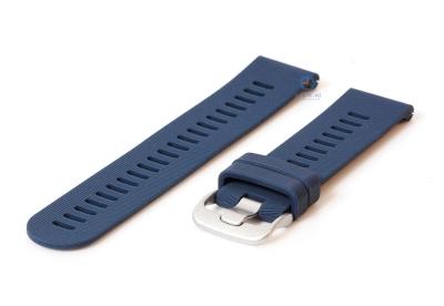 Horlogeband 20mm siliconen donker blauw