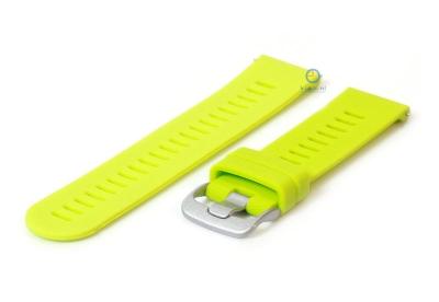 Horlogeband 20mm siliconen fel groen