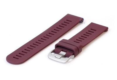 Horlogeband 20mm siliconen paars