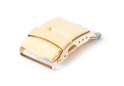 Vouwsluiting 22mm mat goud