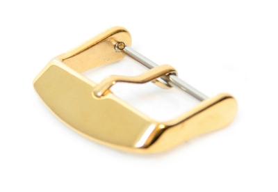 Horlogeband gesp 16mm goud