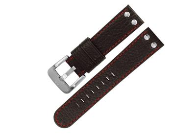 TW STEEL horlogeband 22mm - zwart - rood