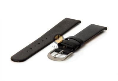 Danish Design horlogeband 20mm leer zwart XL