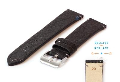 Vegan horlogeband 20mm zwart