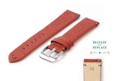 Vegan horlogeband 18mm bruin