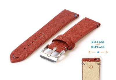 Vegan horlogeband 20mm bruin