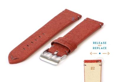 Vegan horlogeband 22mm bruin