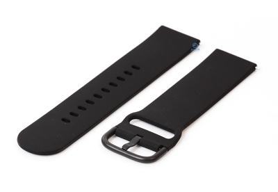 Horlogeband 22mm siliconen zwart