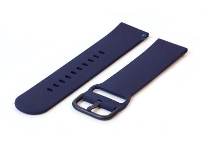 Horlogeband 22mm siliconen donkerblauw