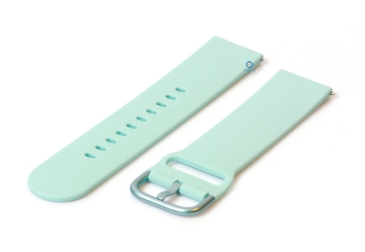 Horlogeband 22mm siliconen blue coral