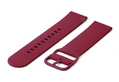 Horlogeband 22mm siliconen wijnrood