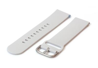 Horlogeband 22mm siliconen lichtgrijs