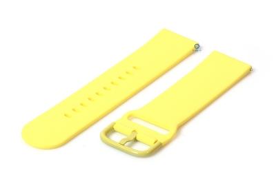 Horlogeband 22mm siliconen geel
