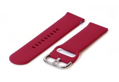Horlogeband 20mm siliconen wijn rood