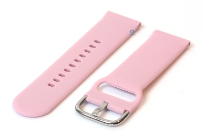 Horlogeband 20mm siliconen pastel roze