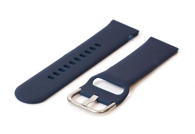 Horlogeband 22mm siliconen donker blauw