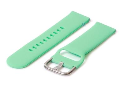 Horlogeband 22mm siliconen mint groen