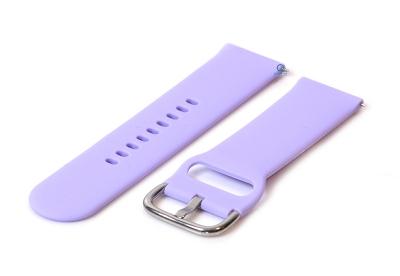 Horlogeband 22mm siliconen lila