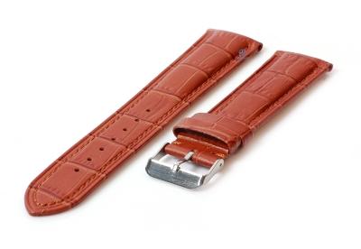 Horlogeband 22mm croco leer lichtbruin