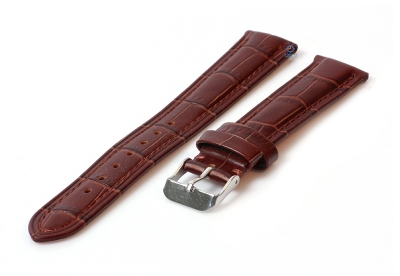 Horlogeband 18mm croco leer bruin