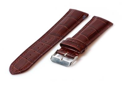 Horlogeband 22mm croco leer bruin