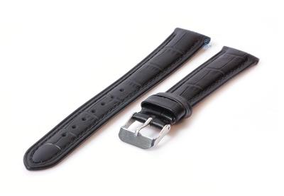 Horlogeband 18mm croco leer zwart