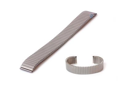 Horlogeband 16mm stalen rekband titanium