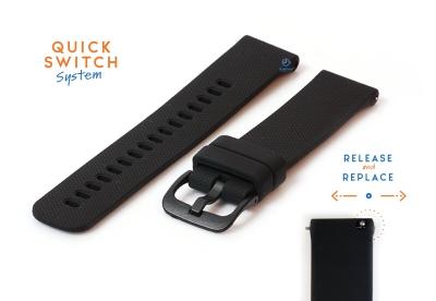 Horlogeband 18mm siliconen zwart