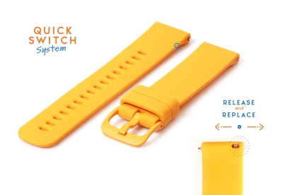 Horlogeband 18mm siliconen oranje