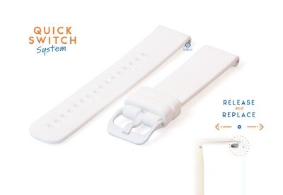 Horlogeband 18mm siliconen wit