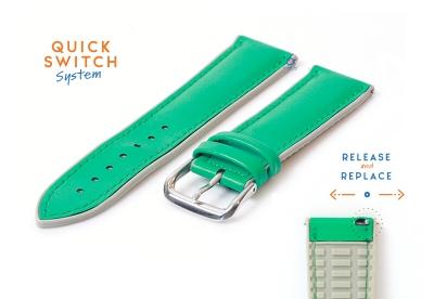 Horlogeband 22mm rubber met leren toplaag