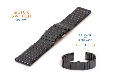 Horlogeband 22mm keramiek zwart