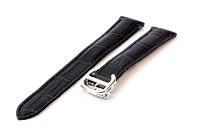Horlogeband Cartier 18/16mm zwart