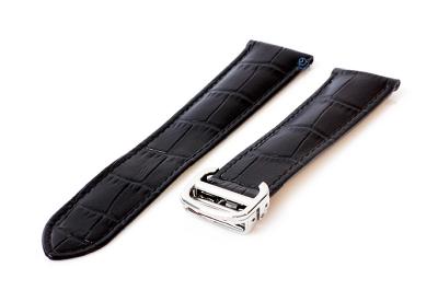 Horlogeband Cartier 20/18mm zwart