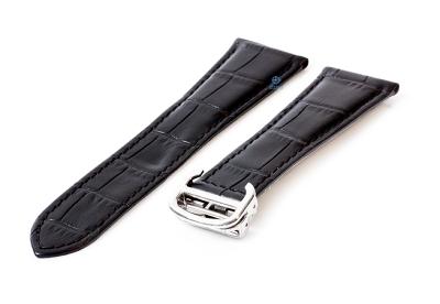 Horlogeband Cartier 23/18mm zwart