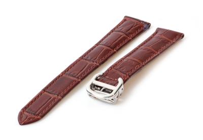 Horlogeband Cartier 18/16mm bruin