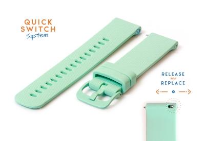 Horlogeband 22mm siliconen mintgroen