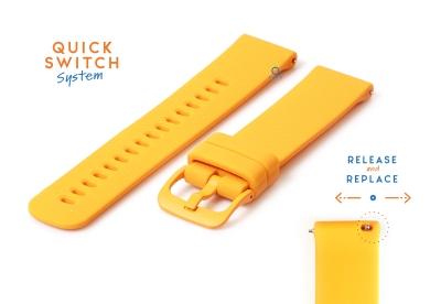 Horlogeband 22mm siliconen oranje