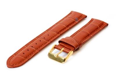 Horlogeband 18mm croco leer lichtbruin