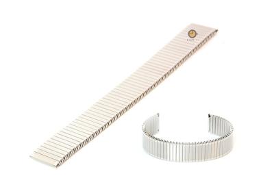 Horlogeband 14mm stalen rekband zilver