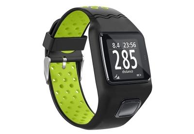 TomTom 1 universeel horlogeband zwart - felgroen